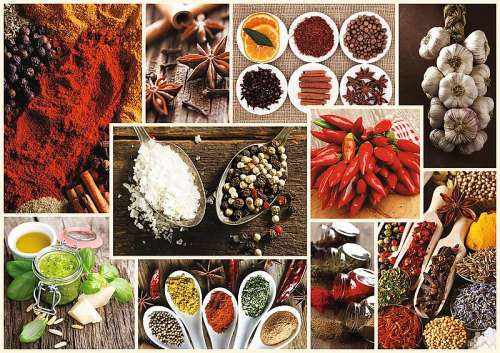 Spices Collage (TRE10470), a 1000 piece jigsaw puzzle by Trefl. Click to view larger image.