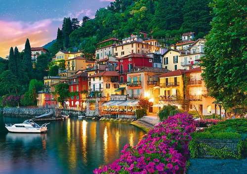 Lake Como, Italy (TRE37290), a 500 piece jigsaw puzzle by Trefl. Click to view larger image.