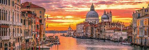 The Grand Canal, Venice Italy (CLE 39426), a 1000 piece jigsaw puzzle by Clementoni. Click to view larger image.