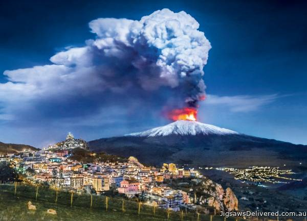 Mount Etna Volcano, Italy (CLE 39453), a 1000 piece jigsaw puzzle by Clementoni.