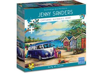 Surfy 63 Kombi (BL02007), a 1000 piece jigsaw puzzle by Blue Opal. Click to view larger image.