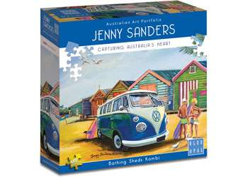 Brighton Bathing Sheds Kombi (BL02005), a 1000 piece jigsaw puzzle by Blue Opal. Click to view larger image.