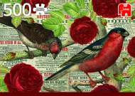Birds Love Flowers (JUM18398), a 500 piece Jumbo jigsaw puzzle.
