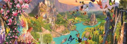 Fairyland (JUM18570), a 1000 piece jigsaw puzzle by Jumbo. Click to view larger image.