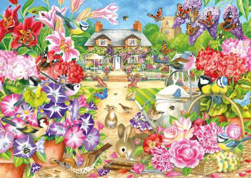 Summer Garden (JUM11171), a 1000 piece jigsaw puzzle by Jumbo. Click to view larger image.