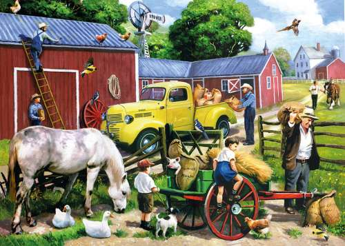 Summer Farm (CAA400083), a 1000 piece jigsaw puzzle by Crown and Andrews. Click to view larger image.