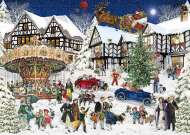 Snowy Village (RB15359-6), a 1000 piece Ravensburger jigsaw puzzle.