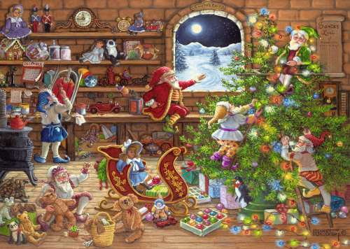 Countdown to Christmas (RB19882-5), a 1000 piece jigsaw puzzle by Ravensburger. Click to view larger image.