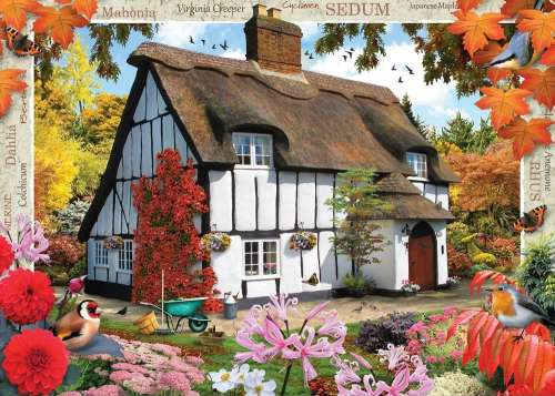 Sedum Cottage (Large Pieces) (HOL770892), a 500 piece jigsaw puzzle by Holdson. Click to view larger image.