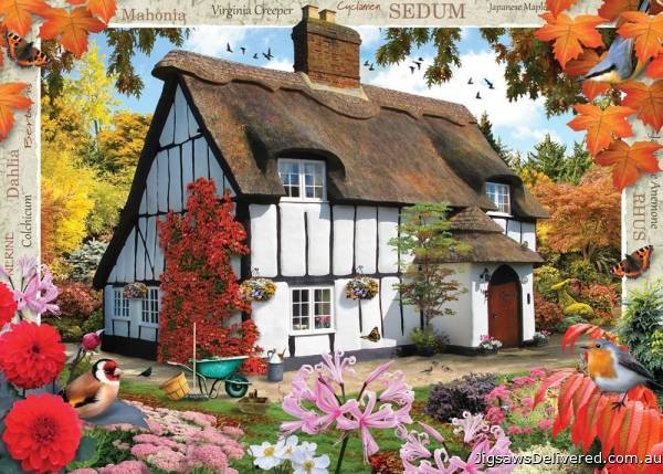 Sedum Cottage (Large Pieces) (HOL770892), a 500 piece jigsaw puzzle by Holdson.