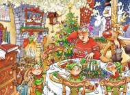 Turkey's Delight (Christmas Wasgij 13) (HOL770250), a 1000 piece Holdson jigsaw puzzle.