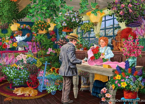 Blooms and Bouquets (Shopkeepers) (HOL770540), a 1000 piece jigsaw puzzle by Holdson.