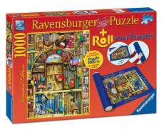 The Bizarre Bookshop (With Storage Roll) (RB19909-9), a 1000 piece Ravensburger jigsaw puzzle.