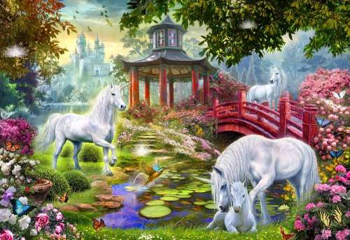 Unicorn Summerhouse (Gallery) (HOL771059), a 300 piece jigsaw puzzle by Holdson. Click to view larger image.