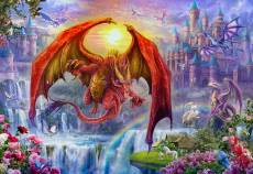 Kingdom with Dragons (Gallery) (HOL771035), a 300 piece Holdson jigsaw puzzle.