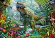Dino Jungle (Gallery) (HOL771011), a 300 piece Holdson jigsaw puzzle.