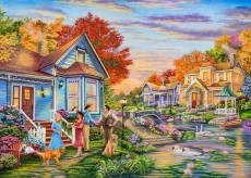 Welcome Neighbours (Moments and Memories) (HOL771103), a 1000 piece Holdson jigsaw puzzle.