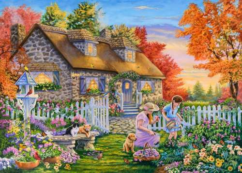 The New Gardener (Moments and Memories) (HOL771097), a 1000 piece jigsaw puzzle by Holdson. Click to view larger image.