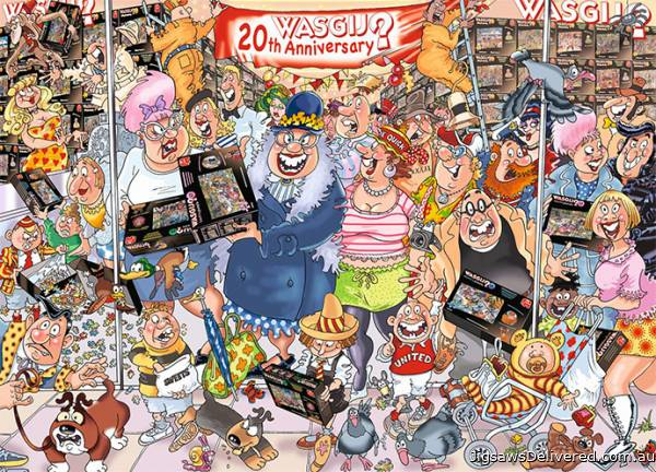 The 20th Party Parade! (Original Wasgij 27) (HOL770984), a 1000 piece jigsaw puzzle by Holdson.