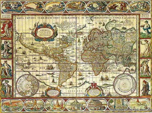 Map of the World from 1650 (RB16633-6), a 2000 piece jigsaw puzzle by Ravensburger.