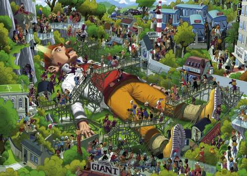 Gulliver (HEY29886), a 1000 piece jigsaw puzzle by HEYE. Click to view larger image.