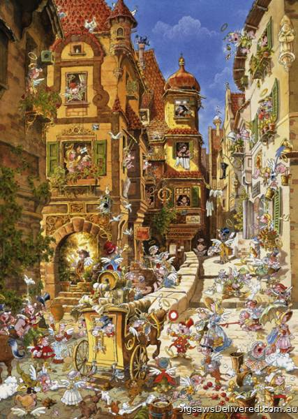 Romantic Town by Day (HEY29874), a 1000 piece jigsaw puzzle by HEYE.