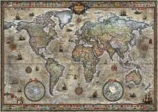 Retro World Map. Click to view this product