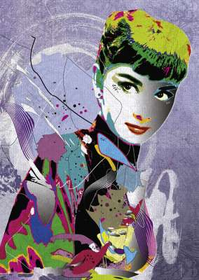 Audrey Hepburn II (HEY29867), a 1000 piece jigsaw puzzle by HEYE. Click to view larger image.