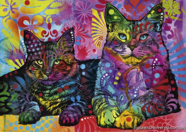 Devoted 2 Cats (HEY29864), a 1000 piece jigsaw puzzle by HEYE.