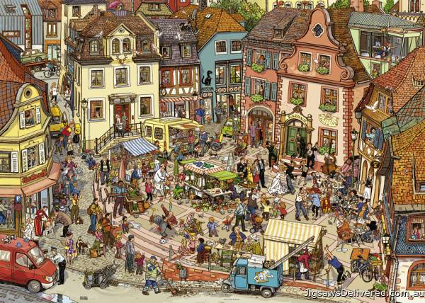 Market Place (HEY29884), a 1000 piece jigsaw puzzle by HEYE.