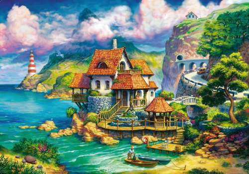 The Cliff House (RB15273-5), a 1000 piece jigsaw puzzle by Ravensburger. Click to view larger image.