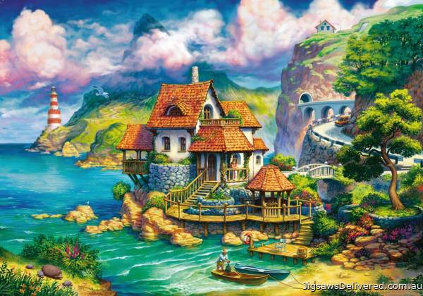The Cliff House (RB15273-5), a 1000 piece jigsaw puzzle by Ravensburger.