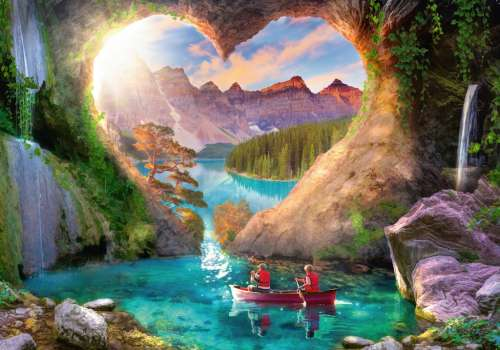 Heartview Cave (RB15272-8), a 1000 piece jigsaw puzzle by Ravensburger. Click to view larger image.