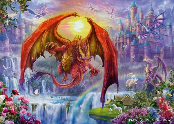 Dragon Kingdom (RB15269-8), a 1000 piece jigsaw puzzle by Ravensburger.