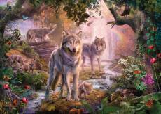 Summer Wolves (RB15185-1), a 1000 piece Ravensburger jigsaw puzzle.