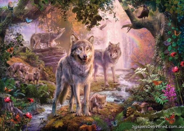 Summer Wolves (RB15185-1), a 1000 piece jigsaw puzzle by Ravensburger.