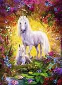 Unicorn and Foal (RB14825-7), a 500 piece jigsaw puzzle by Ravensburger. Click to view this jigsaw puzzle.