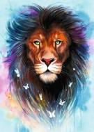 Majestic Lion (RB13981-1), a 1000 piece Ravensburger jigsaw puzzle.