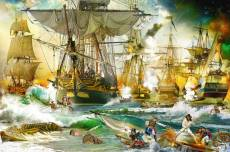 Naval Battle on the High Seas (RB13969-9), a 5000 piece Ravensburger jigsaw puzzle.