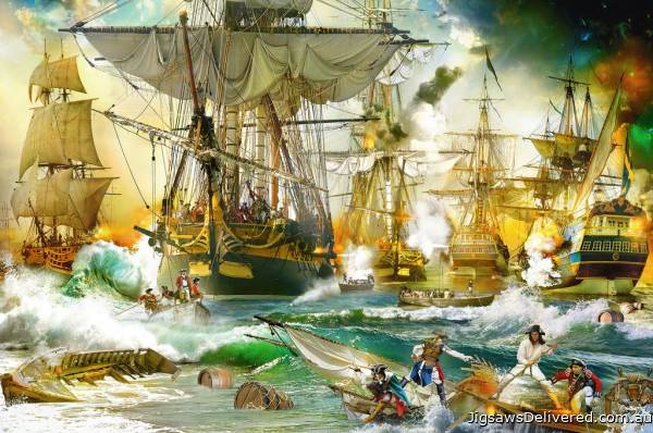 Naval Battle on the High Seas (RB13969-9), a 5000 piece jigsaw puzzle by Ravensburger.