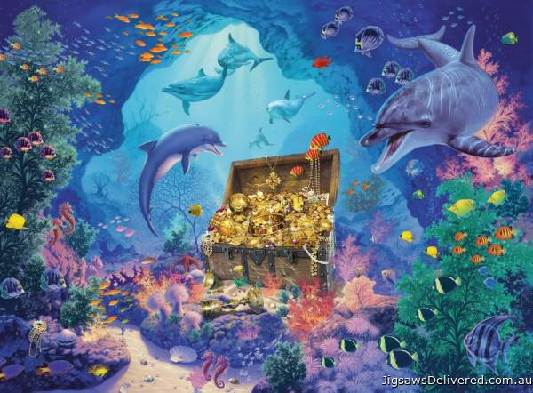 Deep Sea Treasure (RB13255-3), a 300 piece jigsaw puzzle by Ravensburger.