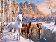 Winter Horses (RB12690-3), a 200 piece Ravensburger jigsaw puzzle.