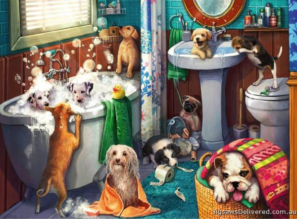Tub Time (RB12667-5), a 200 piece jigsaw puzzle by Ravensburger.