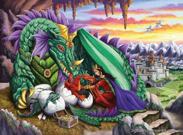 Queen of Dragons (RB12655-2), a 200 piece jigsaw puzzle by Ravensburger.
