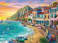 Romantic Sunset (Large Pieces) (RB19940-2), a 750 piece jigsaw puzzle by Ravensburger. Click to view this jigsaw puzzle.
