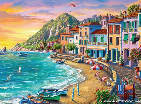Romantic Sunset (Large Pieces) (RB19940-2), a 750 piece jigsaw puzzle by Ravensburger.