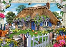 Wisteria Country Cottage (RB19094-2), a 1000 piece Ravensburger jigsaw puzzle.