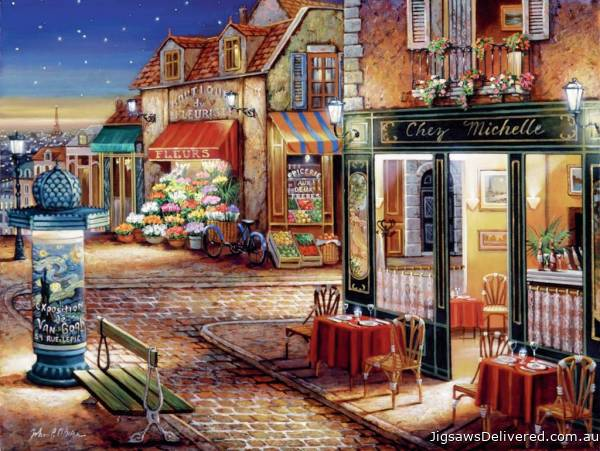 Paris Secret Corner (RB16244-4), a 1500 piece jigsaw puzzle by Ravensburger.