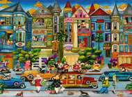 The Painted Ladies, San Francisco (RB16261-1), a 1500 piece jigsaw puzzle by Ravensburger. Click to view this jigsaw puzzle.