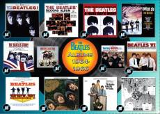 Beatles Albums 1964-1966 (RB19753-8), a 1000 piece Ravensburger jigsaw puzzle.